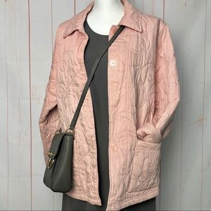 Coldwater Creek Quilted Button Up Jacket/Coat